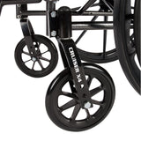"Cruiser X4 Lightweight Dual Axle Wheelchair with Adjustable Detachable Arms, Desk Arms, Elevating Leg Rests, 16"" Seat"
