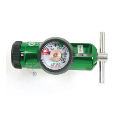 Oxygen Regulator Mini, Yoke Style 0-15 LPM