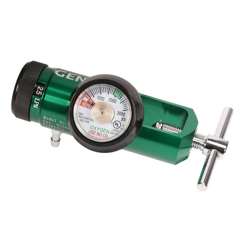 Oxygen Regulator Mini, Yoke Style 0-8 LPM