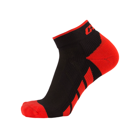 CSX X110 High Cut Ankle Sock PRO Red on Black
