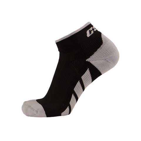 CSX X110 High Cut Ankle Sock PRO Silver on Black