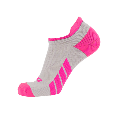 CSX X100 Low Cut Ankle Socks PRO Pink on Grey