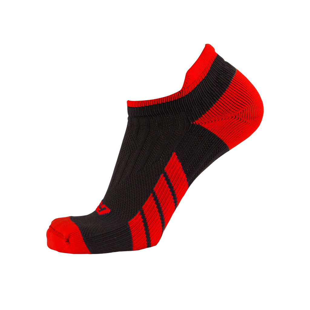 CSX X100 Low Cut Ankle Socks PRO Red on Black