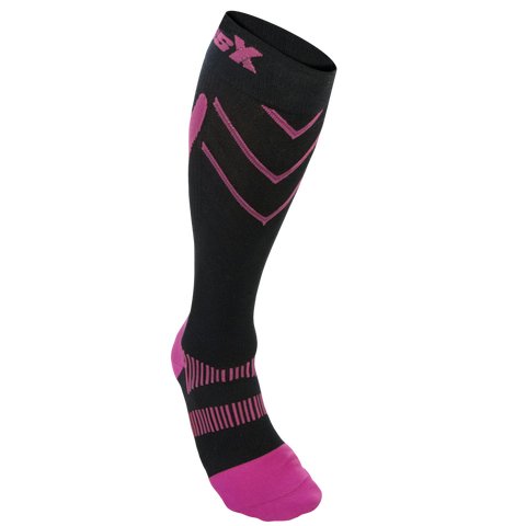 CSX 20-30 mmHg Compression Socks Pink on Black