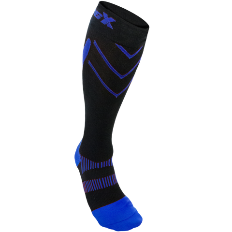 CSX 20-30 mmHg Compression Socks Royal Blue on Black