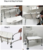 Transfer Bath Bench with Back by MOBB