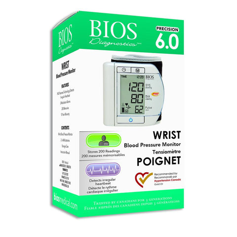 Precision Series 6.0 Wrist Blood Pressure Monitor by BIOS