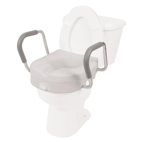 "5"" Molded Raised Toilet Seat with Removable Arms"