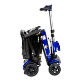 ZooMe Auto-Flex Folding Travel Scooter, Blue