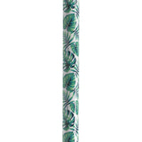 Adjustable Height Offset Handle Cane with Gel Hand Grip, Green Leaves