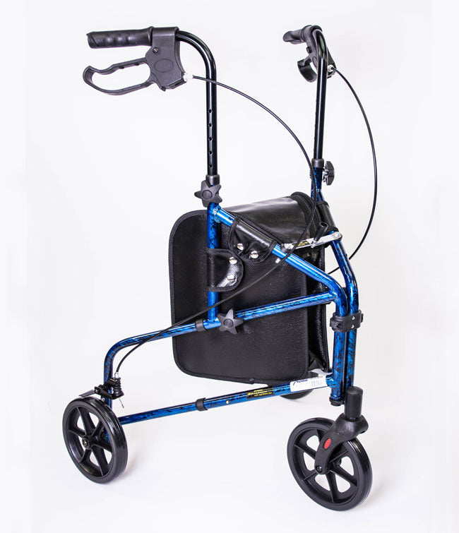 3 Wheel Aluminum Rollator Blue by MOBB