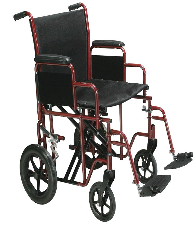 "Heavy Duty Transport Chair 22"" wide by Mobb Home Health Care"