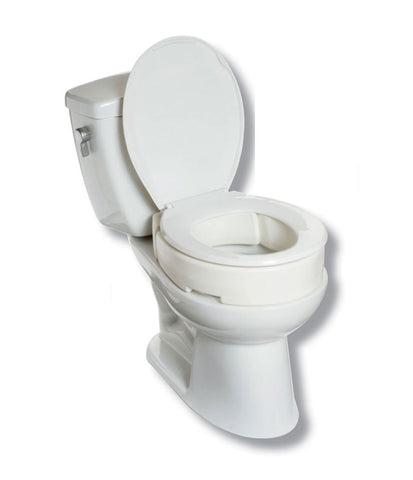 "4"" Hinged Raised Toilet Seat by MOBB"