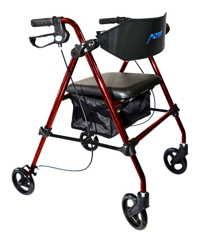 "Aluminum Folding Rollator 8"" Wheels by MOBB Home Health Care"