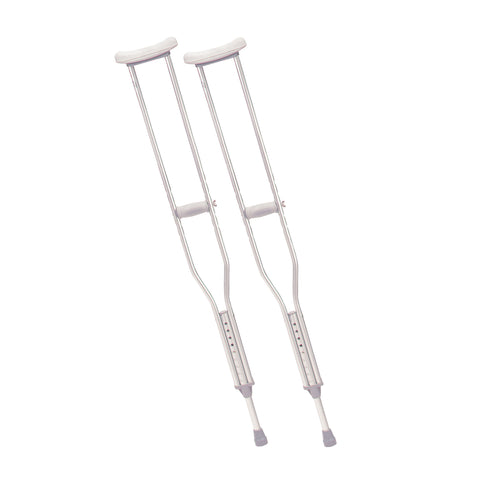 Walking Crutches with Underarm Pad and Handgrip, Tall Adult, 1 Pair