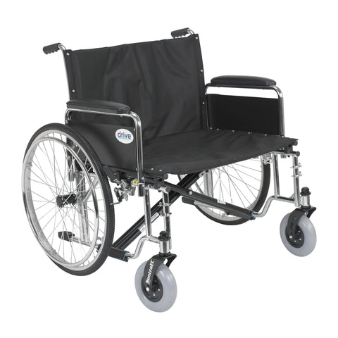 "Sentra EC Heavy Duty Extra Wide Wheelchair, Detachable Full Arms, 28"" Seat"