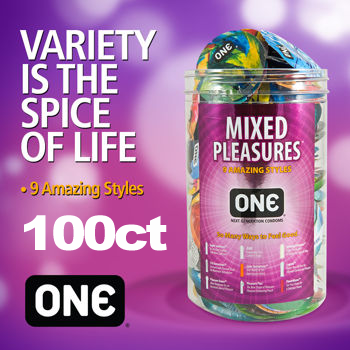 ONE Mixed Pleasures 100 Condoms