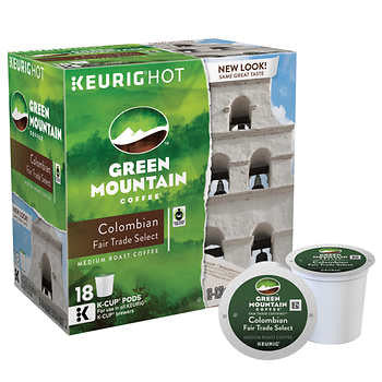 Green Mountain Colombian Fair Trade Select Coffee K Cups 180ct
