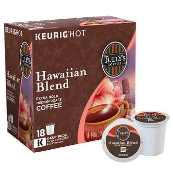 Tully's Hawaiian Blend Extra Bold Coffee K Cups 180ct