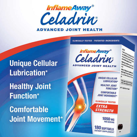 Celadrin Advanced Joint Health 1050 mg. 180 Softgels