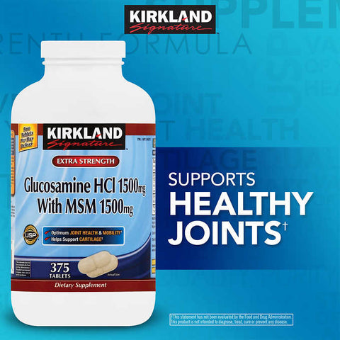 Kirkland Signature Glucosamine with MSM 375 Tablets