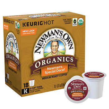 Newman's Own Organics Special Blend Extra Bold Decaf Coffee K Cups 180ct