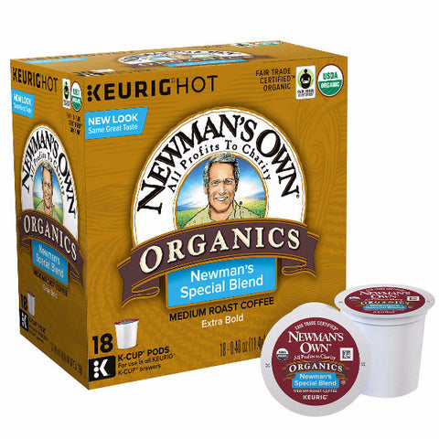 Newman's Own Organics Special Blend Extra Bold Coffee K Cups 180ct