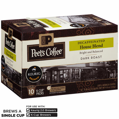 Peet's Decaf House Blend Coffee K Cups 120ct