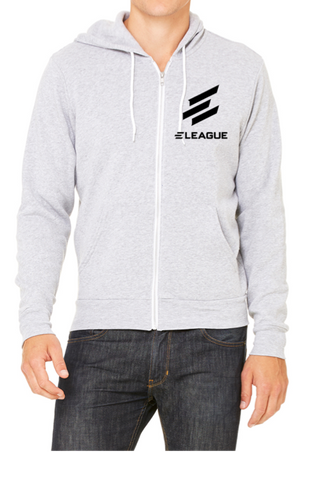 ELEAGUE Full-Zip Gray Hoodie