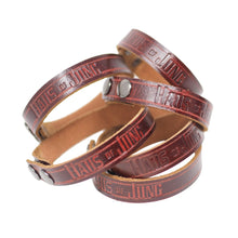 SINGLE-WRAP BRACELET: Blood Red