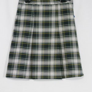 SUNNYVALE CHRISTIAN 2-KICK PLEAT SKIRT FRONT & BACK