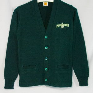 PINEWOOD CLASSIC V-NECK CARDIGAN WITH EMBROIDERED LOGO - Appletree Uniforms