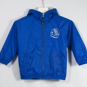 ST. SIMON SCHOOL BAY WATCH LINED NYLON HOODED JACKET WITH EMBROIDERED LOGO