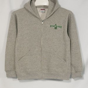 PINEWOOD HEAVYWEIGHT ZIP HOODIE WITH EMBROIDERED LOGO - Appletree Uniforms