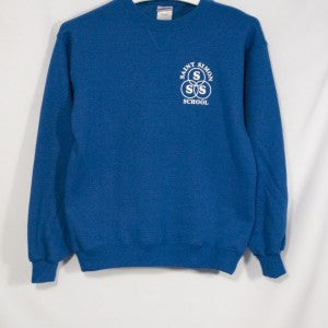 ST. SIMON HEAVYWEIGHT CREW SWEATSHIRT WITH SILKSCREENED LOGO - Appletree Uniforms