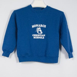 MONARCH CHRISTIAN SCHOOL HEAVYWEIGHT CREW SWEATSHIRT WITH SILKSCREENED LOGO