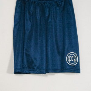 ST. JOSEPH OF CUPERTINO MINI MESH SHORTS WITH SILKSCREENED LOGO