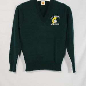 ST. JOSEPH MOUNTAIN VIEW CLASSIC V-NECK PULLOVER WITH EMBROIDERED LOGO - Appletree Uniforms
