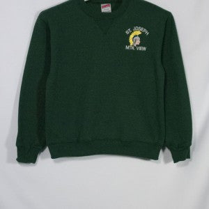 ST. JOSEPH MOUNTAIN VIEW HEAVYWEIGHT CREW SWEATSHIRT WITH EMBROIDERED LOGO - Appletree Uniforms
