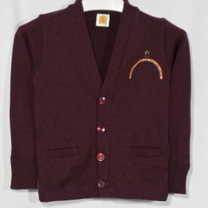 RAINBOW MONTESSORI CLASSIC V-NECK CARDIGAN WITH EMBROIDERED LOGO - Appletree Uniforms