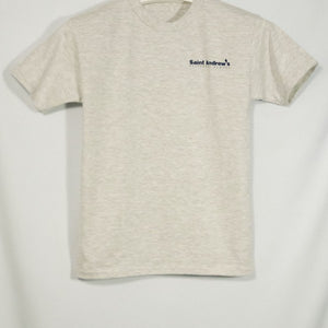 ST. ANDREW SHORT SLEEVE T-SHIRT WITH SILKSCREENED LOGO - Appletree Uniforms
