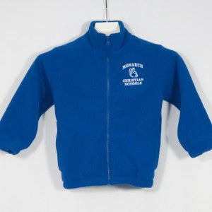 MONARCH CHRISTIAN SCHOOL CHILL FLEECE FULL ZIP JACKET WITH EMBROIDERED LOGO