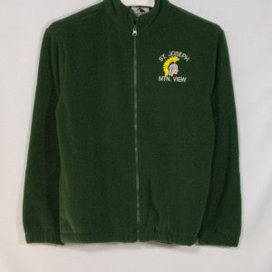 ST. JOSEPH MOUNTAIN VIEW FULL ZIP FABRI-TEC FLEECE WITH EMBROIDERED LOGO - Appletree Uniforms