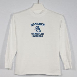 MONARCH CHRISTIAN SCHOOL LONG SLEEVE T-SHIRT WITH SILKSCREENED LOGO