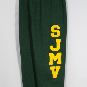 ST. JOSEPH MOUNTAIN VIEW BANDED BOTTOM HEAVYWEIGHT SWEATPANT WITH SILKSCREENED LOGO