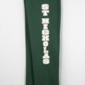 ST. NICHOLAS OPEN BOTTOM HEAVYWEIGHT SWEATPANT WITH SILKSCREENED LOGO - Appletree Uniforms