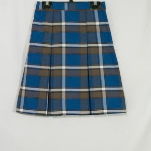 ST. SIMON 2-KICK PLEAT SKIRT FRONT & BACK