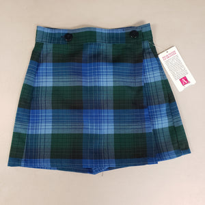 ST. NICHOLAS FRONT FLAP SKORT - ADJUSTABLE WAIST - DOUGLAS PLAID