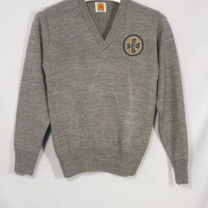 ST. JOSEPH OF CUPERTINO CLASSIC V-NECK PULLOVER WITH EMBROIDERED LOGO