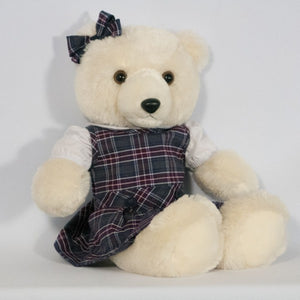 SACRED HEART SCHOOLS 18? DOLL DROP WAIST JUMPER WITH BOW (BEAR NOT INCLUDED)